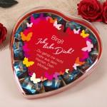 Pralinen Herz - Ich liebe Dich als Geschenk zum Valentinstag